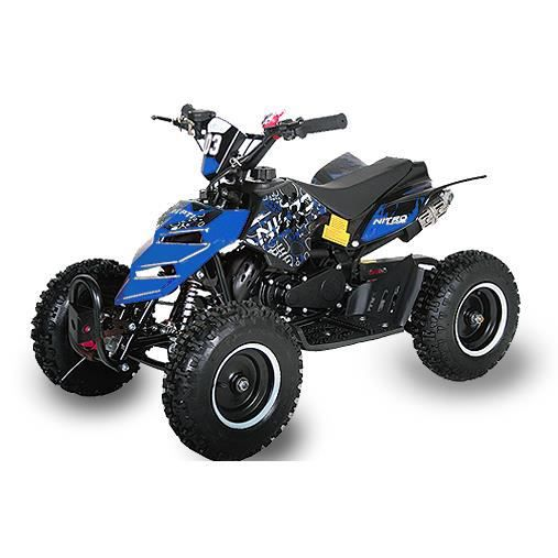 mini quad atv repti 49cc enfant avec e start bleu achat. Black Bedroom Furniture Sets. Home Design Ideas