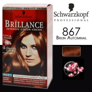 coloration schwarzkopf coloration brillance 867 brun aut - Coloration Shwarskoff