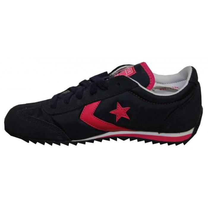 Converse Skateboard Nylon Trainer Navy/Pink Sneakers Shoes [36]