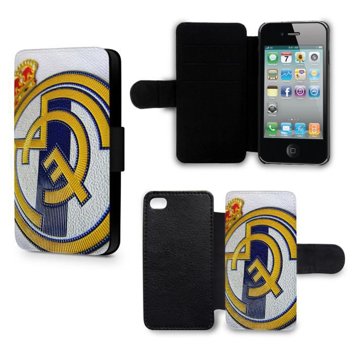 etui housse iphone 5c real madrid football equipe
