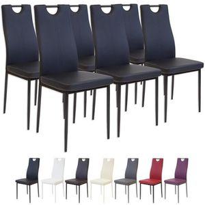 CHAISE Albatros 2914 SALERNO Lot de 6 chaises, noir