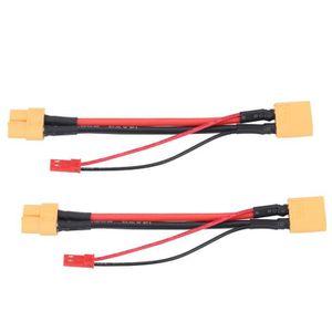 CÂBLE - PRISE 2Pcs / Set Cables adaptateurs XT60 Femelle à XT60