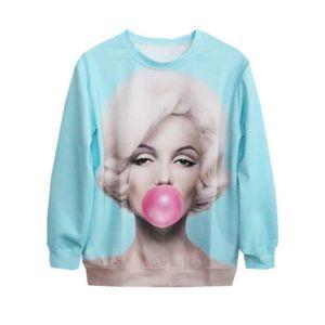 SWEATSHIRT Femme Tops de Loisir T-Shirts Pull-over Léger Swea