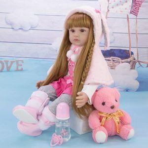 POUPÉE 60CM Reborn bébé poupée Menina Silicone princesse
