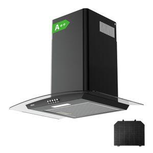 HOTTE CIARRA Hotte décorative 60cm Noir >550m3/h -56db -