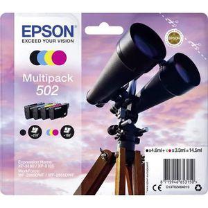 CARTOUCHE IMPRIMANTE Epson 502, Epson, Noir, Cyan, Magenta, Jaune, Work