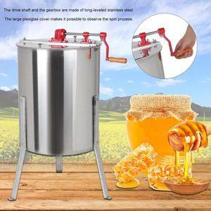 DEFIGEUR A MIEL Extracteur de miel manuel 4-Frame manuel en acier