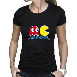 T-SHIRT Jeu de Pac-Man pour femmes sur T-Shirt ajusté