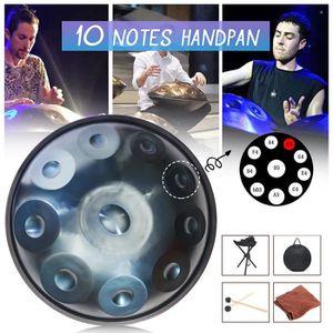 Moukey Steel Tongue Drum 8 Notes Pentatonique avec Etui et Baguettes