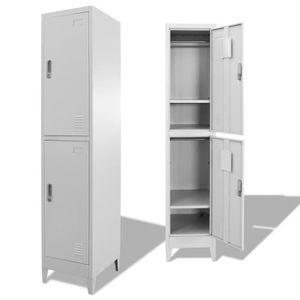 ARMOIRE DE BUREAU Armoire à casiers Armoire de bureau avec 2 compart