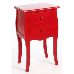 table de chevet rouge achat vente table de chevet rouge pas cher cdiscount. Black Bedroom Furniture Sets. Home Design Ideas