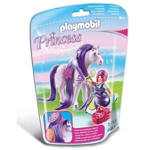 UNIVERS MINIATURE PLAYMOBIL 6167 Princesse Violette avec cheval à co