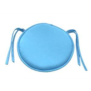 COUSSIN Bleu Ciel Galette de chaise rond Coussin de chaise