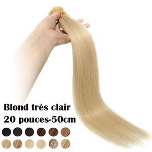 PERRUQUE - POSTICHE Extensions Keratine Pose a Chaud Cheveux Naturel 1