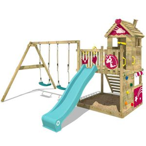 STATION DE JEUX Aire de jeux WICKEY Smart Sparkle Portique en bois