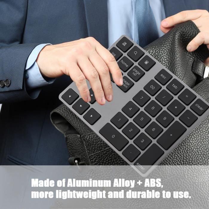 Mini Clavier numérique sans fil Bluetooth de 34 pavés numériques mini de pavé numérique pour Pc Apple