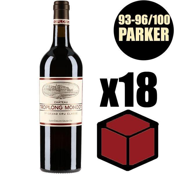 X18 Château Troplong Mondot 2014 75 cl AOC Saint-Emilion Grand Cru 1er Grand Cru Classé B Rouge Vin Rouge