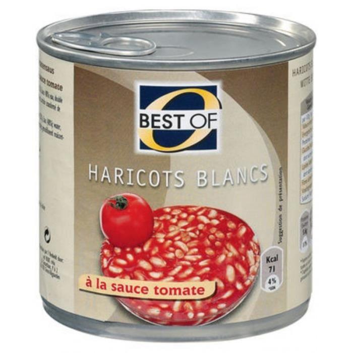 Best Of Haricots Blancs à la Tomate 420g (lot de 12)