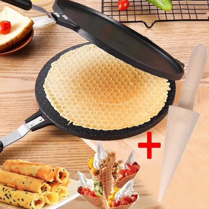 rouleau d'œufs gaufres à omelette antiadhésives, ustensiles de cuisson en alliage d'aluminium Machine croustillante moule à omelette