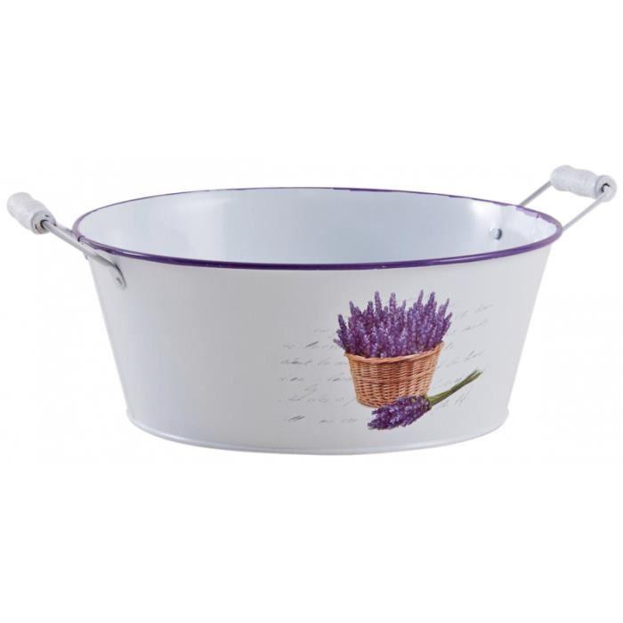 Cache-pot rond lavande