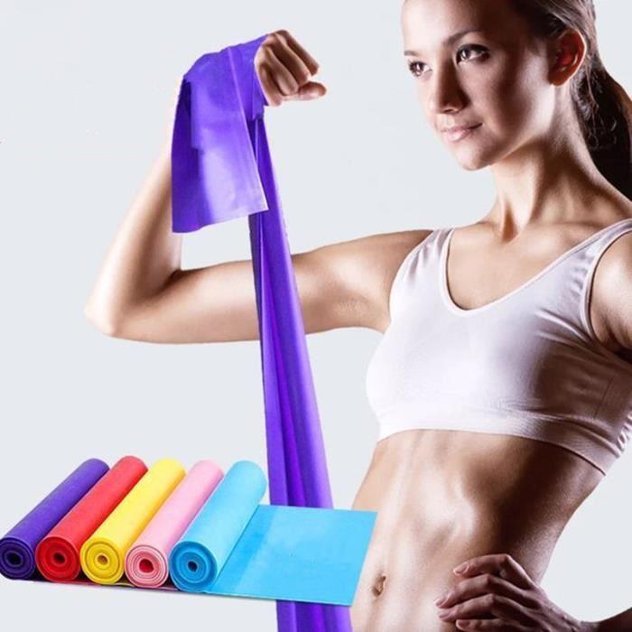 Bande Elastique Fitness Équipement d'Exercices pour Fitness, Yoga, Entrainement Crossfit, Musculation Violet