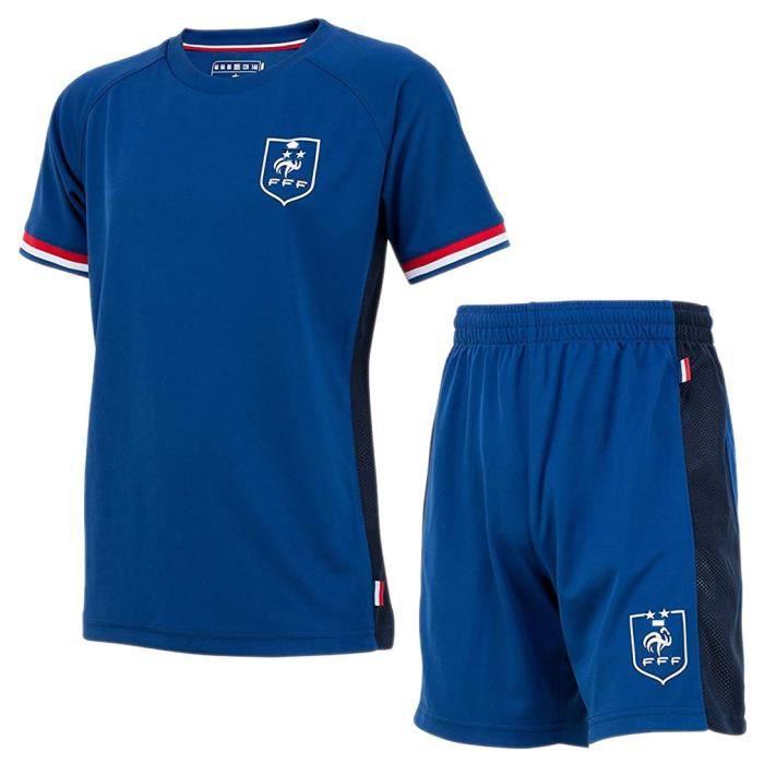Maillot & Short de Foot Équipe de France Enfant '2 Etoiles' - Bleu