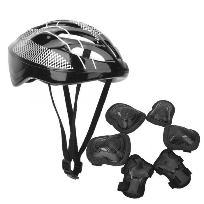 PROTEGE-CHEVILLES - CHEVILLERE,7 pièces-ensemble adulte patinage à roulettes Protection équipement ensemble - Type Black