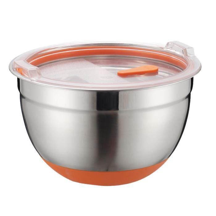 1pc cuve de cuisson en acier inoxydable lavabo bol de mélange multifonctionnel AUTOCUISEUR - COCOTTE MINUTE