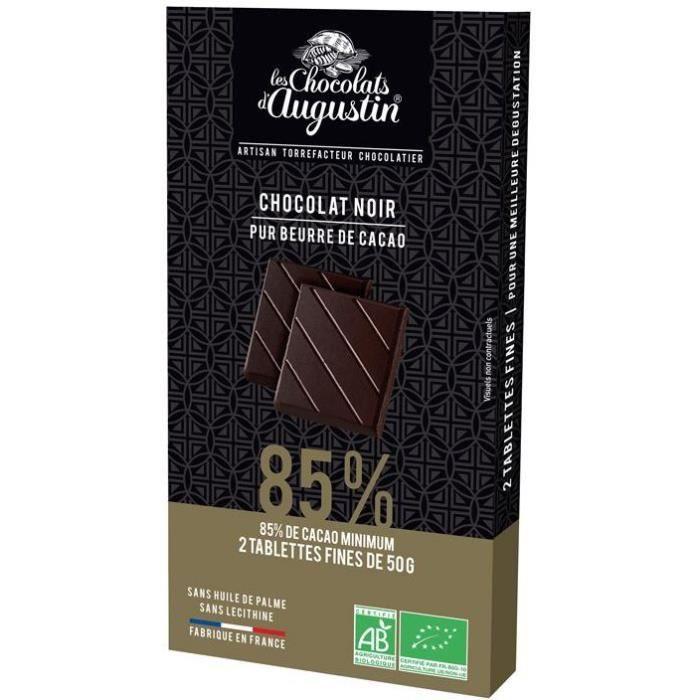 SAVEURS ET NATURE Tablette chocolat noir 85% Cacao - 100 g
