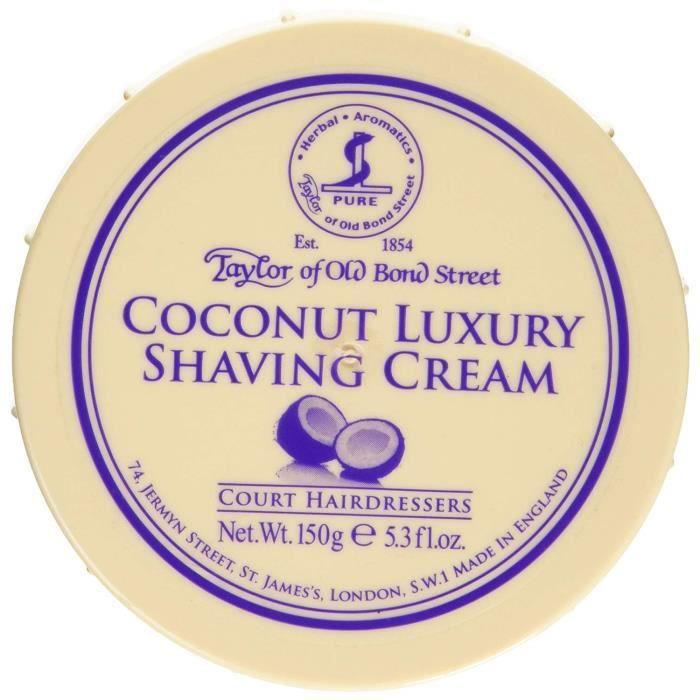 Crème À Raser Taylor Of Old Bond Street Design de Classe Mondiale de Sa gamme de Produits Humidité Supplémentaire 150 g