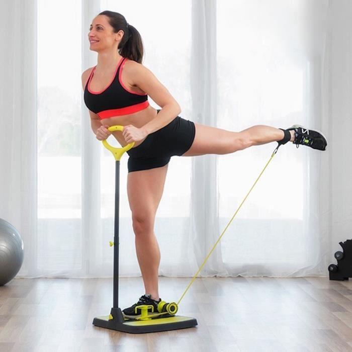 MODEZVOUS - Plateforme avec Bande de Résistance - Sculpteur des Fesses - Exercice Entraînement Fitness Fessier Jambes - Yoga Pilates