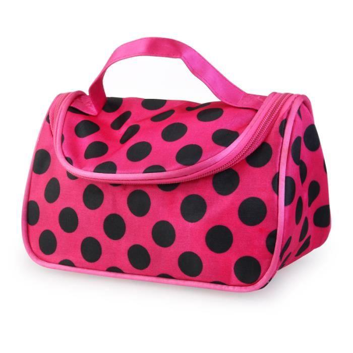 1pc sac à cosmétiques à glissière mode à pois motif trousse de toilette pour femmes pour l'extérieur  TROUSSE DE TOILETTE - VANITY