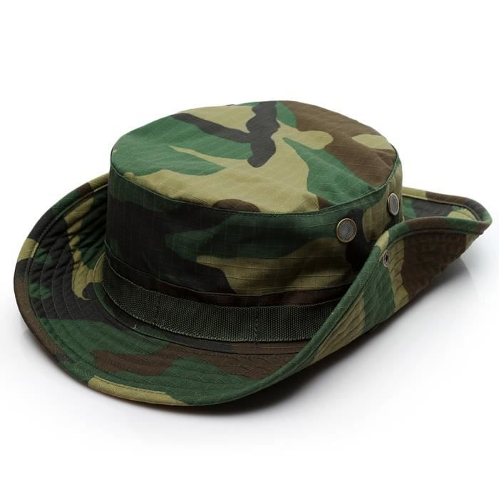 4 -Casquette de Camouflage militaire tactique 59CM, chapeau de l'armée américaine, chapeau seau de sport de plein air pour hommes, p