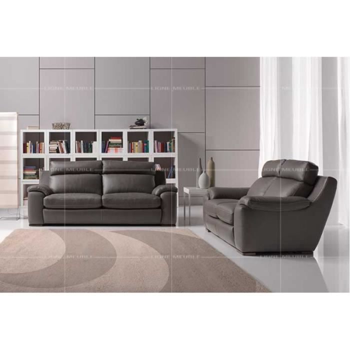 Argos cuir ensemble salon canape 3 places 2 places achat vente salon co - Salon canape cuir complet ...