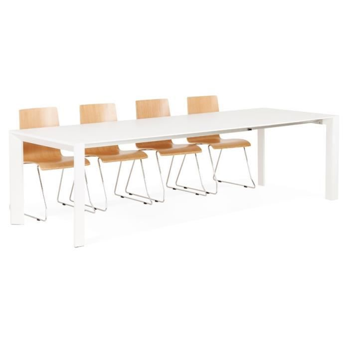 Table design extensible 39 alto 39 blanche mate achat vente table a m - Table design blanche ...