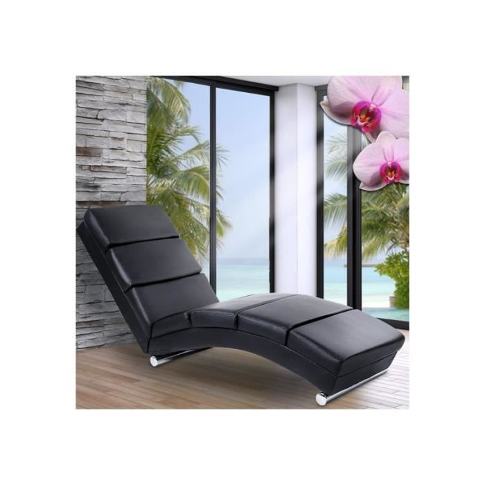 chaise de relaxation chaise longue fauteuil design achat vente fauteuil noir cdiscount. Black Bedroom Furniture Sets. Home Design Ideas