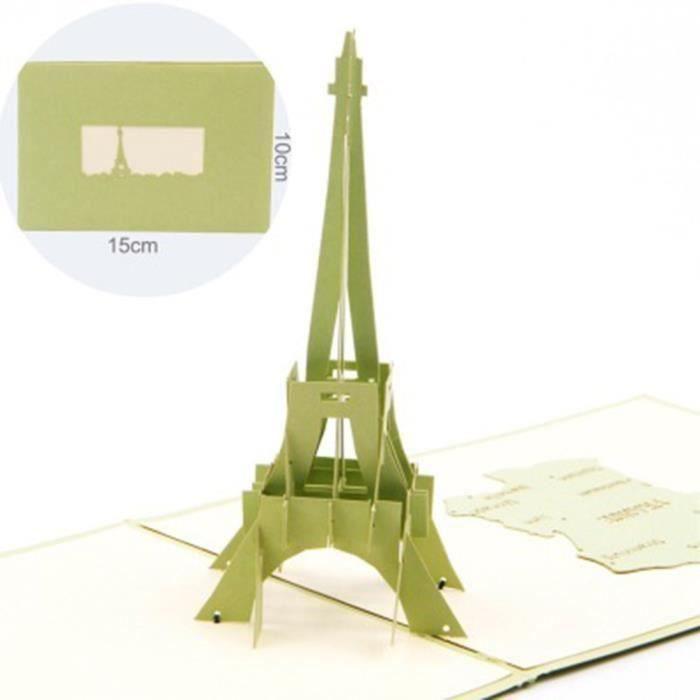 3d Pop Up Paris Tour Eiffel Cartes De Voeux A La Main Plis Cartes Plates Anniversaire Rose9021356 Achat Vente Carte Correspondance 3d Pop Up Paris Tour Eiffel Ca Cdiscount