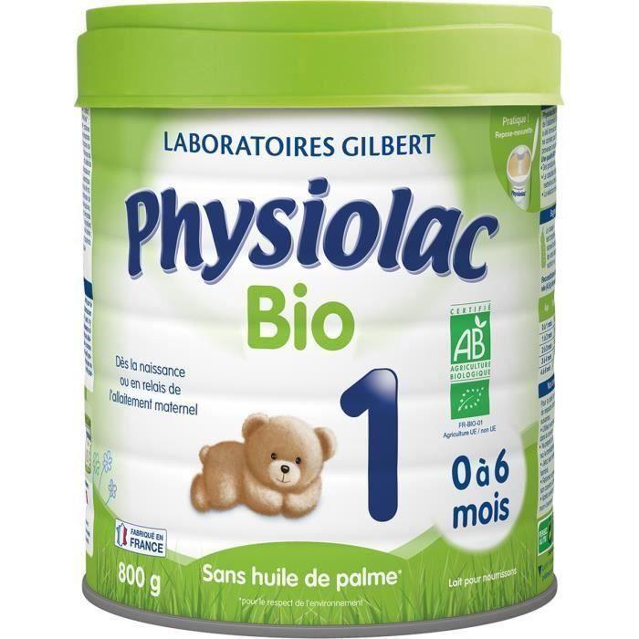 LAIT BÉBÉ [LOT DE 3] PHYSIOLAC Bio1 - lait en poudre 1er âge