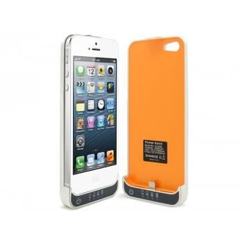 coque batterie 2200mah iphone 5 5s blanc orange achat coque bumper pas cher avis et. Black Bedroom Furniture Sets. Home Design Ideas