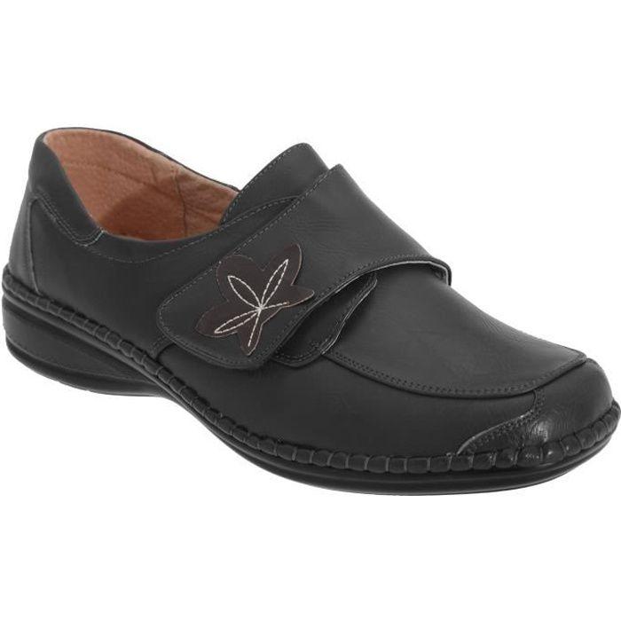 MOLIÈRE Boulevard - Chaussures larges à sangle scratch - F