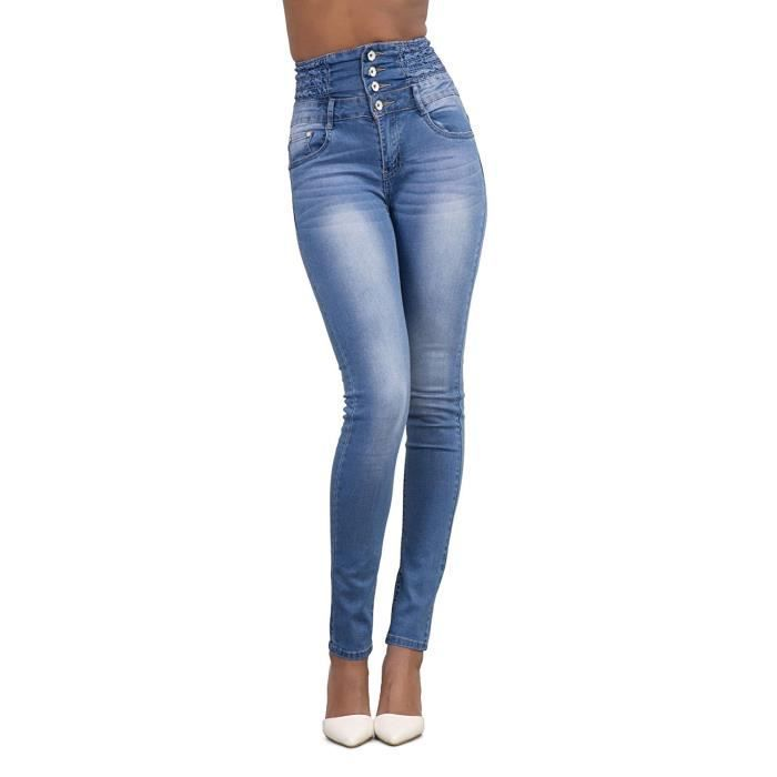 Femme Taille Haute Slim Skinny Legging Stretch Pantalon Jegging Crayon Pant 6 A