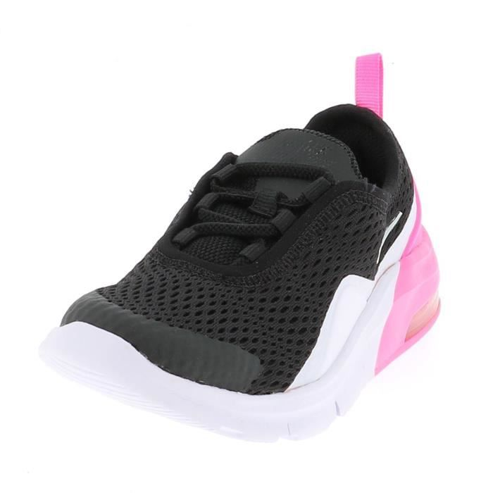 NIKE Baskets Air Max Motion 2 - Bébé fille - Noir, rose et blanc