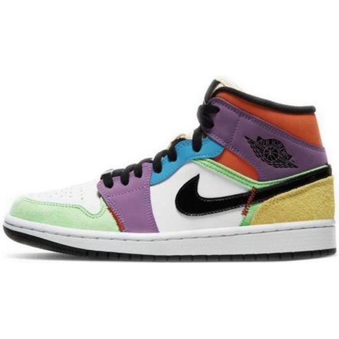 Basket Jordans 1 Mid SE Multi-Color(W) Jordans one AJ 1 pour Femme ...