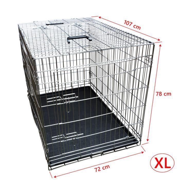 nemaxx cage pour chien pliable et transportable taille xl. Black Bedroom Furniture Sets. Home Design Ideas