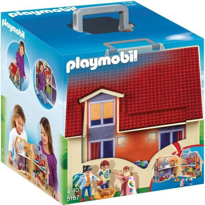 playmobil 5167 maison transportable achat vente. Black Bedroom Furniture Sets. Home Design Ideas