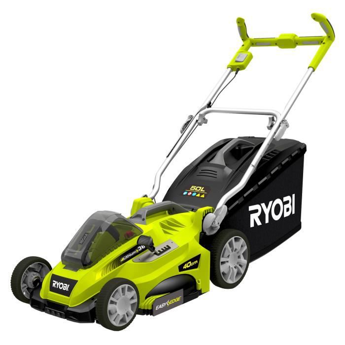 ryobi tondeuse 36 v avec 1 batterie lithium 36 v et 1. Black Bedroom Furniture Sets. Home Design Ideas