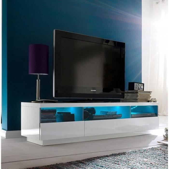 meuble tv blanc et gris. Black Bedroom Furniture Sets. Home Design Ideas