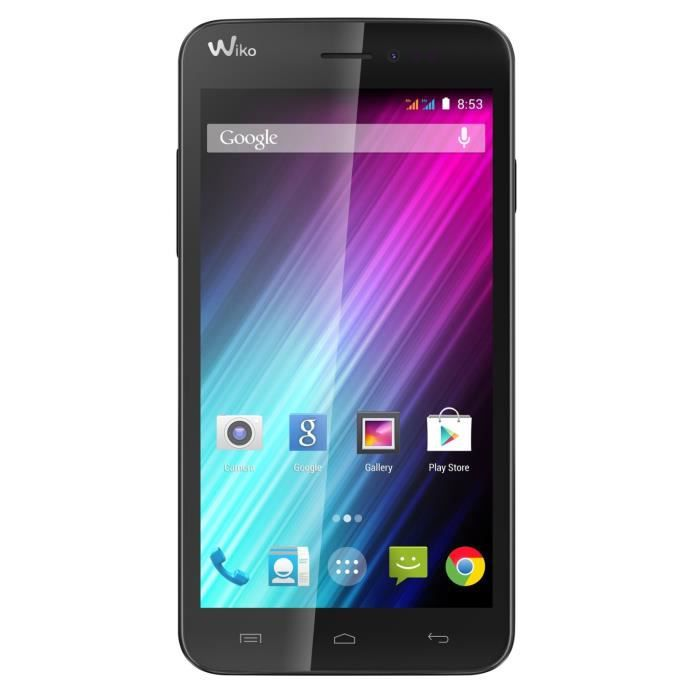 wiko lenny smartphone d bloqu 3g ecran 5 pouces 4 go android 4 4 kitkat noir achat. Black Bedroom Furniture Sets. Home Design Ideas