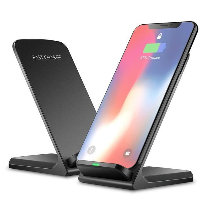 CHARGEUR TÉLÉPHONE 10 w Qi Sans Fil Chargeur Pour Samsung S9 S8 S7 No