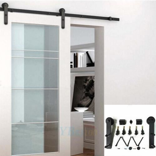 2000mm rail coulissante de porte kit porte coulissante rail de suspendu pour porte coulissante. Black Bedroom Furniture Sets. Home Design Ideas